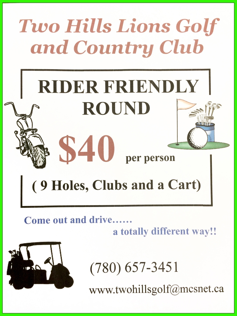 BIKER RATES FOR TWO HILLS GOLF (FRAMED)